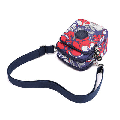 🔥🔥Multifunction Waterproof Nylon Messenger Bags Multiple pockets Printed Waist Pack