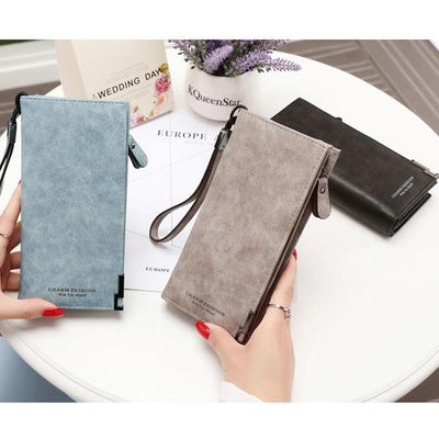 Women's Fashion Solid High Quality Zipper Long Wallet - Marfuny