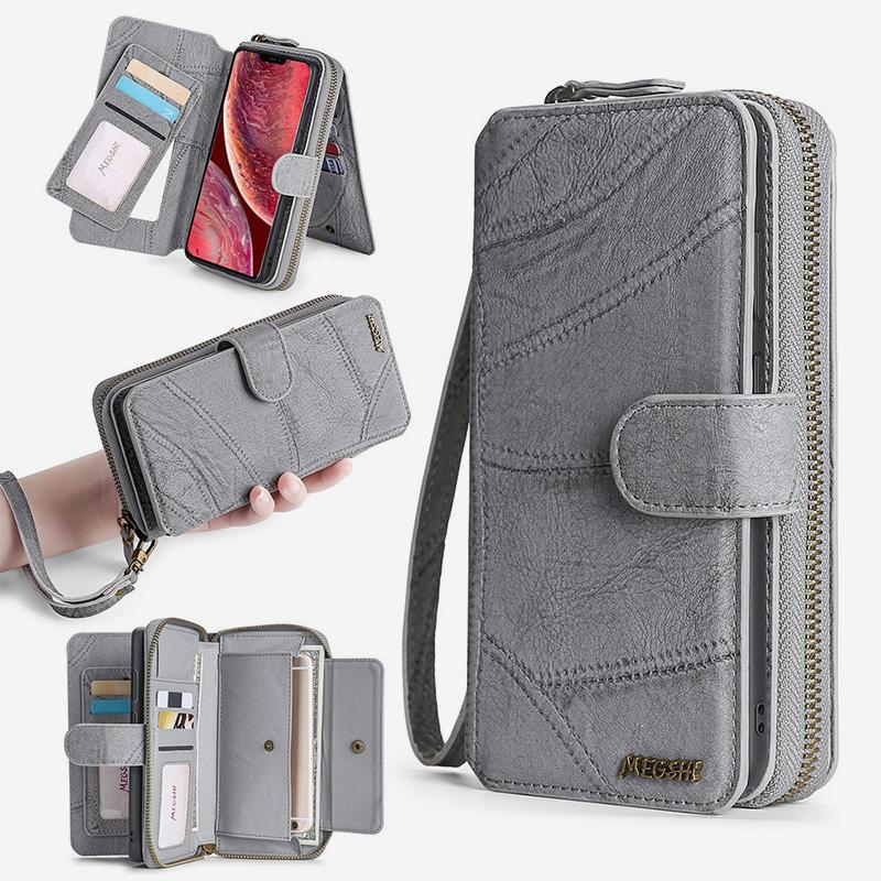 Wallet Case for iPhone Magnetic Detachable Wallet Purse