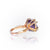 9 carat Gold cocktail ring set with amathyst, oval shape and white diamonds