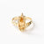 9 carat Gold ring set with citrine pear shape and white diamonds