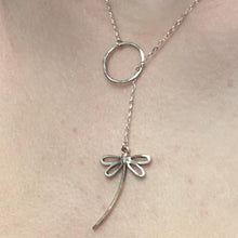 Sterling Silver Dragonfly Lariat