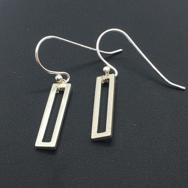 Sterling Silver Bar Dangle Earrings
