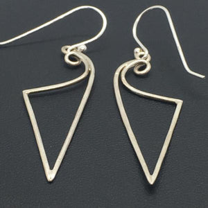 Sterling Silver Bolt Dangle Earrings