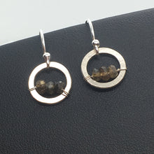 Tourmaline Circle Dangle Earrings
