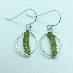 Peridot Leaf Dangle Earrings