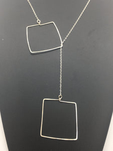 Sterling Silver Square Lariat