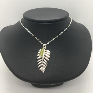 Sterling Silver Fern Charm Necklace