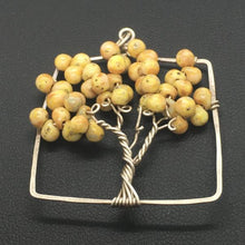 Mustard Tree of Life Sterling Silver Tree Pendant