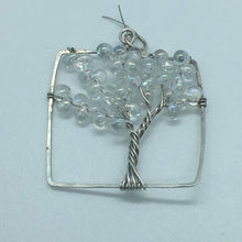Ice Tree of Life Square Pendant