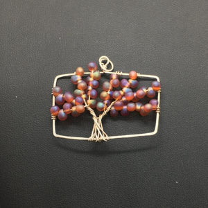 Maple Tree of Life Rectangle Pendant