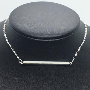 "Sterling Silver 20"" Bar Necklace"