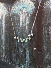 Sterling Silver Opal Seaweed Bud Necklace