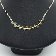 Sterling Silver Graded Tourmaline Seaweed Bud Necklace