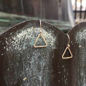 Sterling Silver Triangle Dangle Earrings