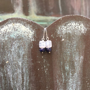 Sterling Silver Sapphire Dangle Earrings