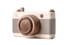 Wooden Camera-River Pebble Gray/Mink