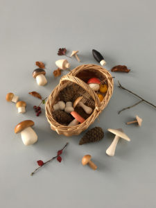 Moon Picnic Forest Mushrooms Basket -Light