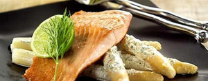 Atlantic Salmon with asparagus