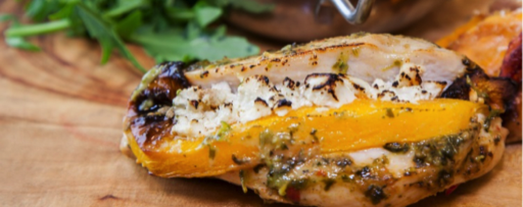 Spicy Pumpkin and Feta Stuffed Chicken Breasts with Moroccan Seasoning