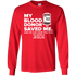 My Blood Donor Men's and Women's Long-Sleeved