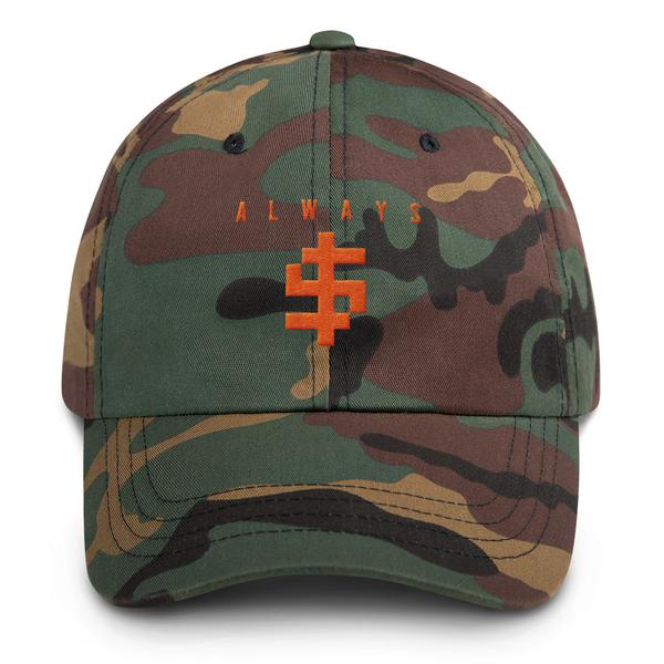 Camo Always $ Dad Hat
