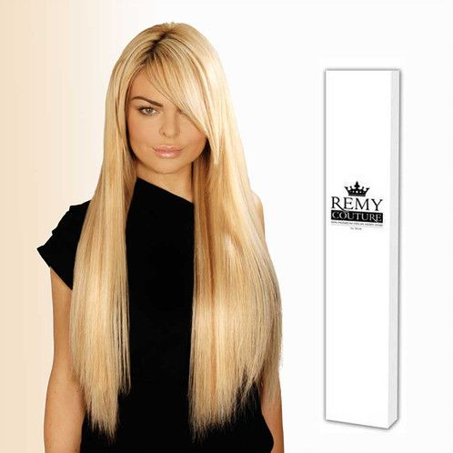 "18"" Remy Couture Natural Black 1B"