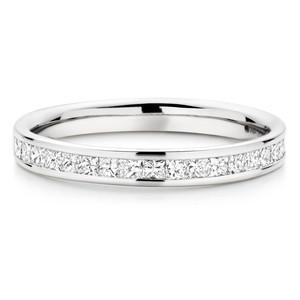 Princess Channel Setting Wedding Ring In 2.00 Carat Total Weight.