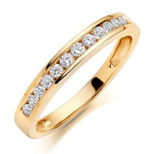 Round Channel Setting Wedding Ring In 3.00 Carat Total Weight.