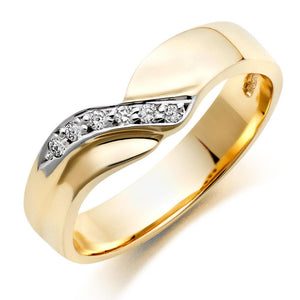 Choose in 14 Karat, 18 Karat or Platinum Gold Diamond Wedding Ring