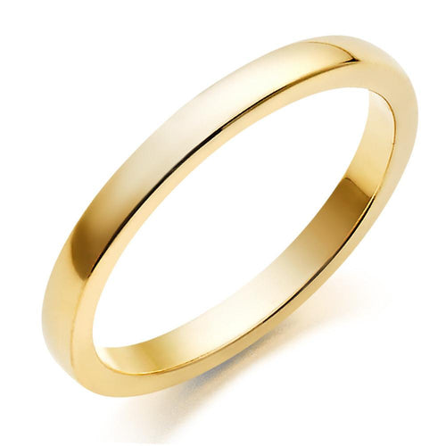 Choose in 14 Karat, 18 Karat or Platinum Gold Plain Court Wedding Ring