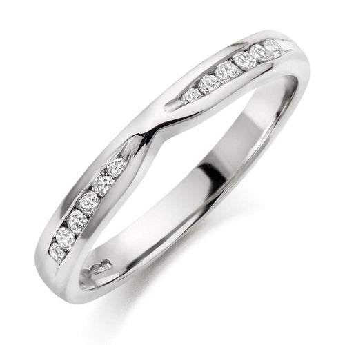 Choose in 14 Karat, 18 Karat or Platinum Diamond Wedding Ring