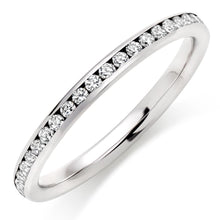 Choose in 14 Karat, 18 Karat or Platinum White Gold Full Eternity Diamond Wedding Ring