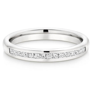 Choose in 14 Karat, 18 Karat or Platinum Half Eternity Diamond Wedding Ring