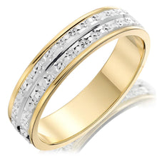 Choose in 14 Karat, 18 Karat or Platinum Bi-colour Gold Sparkle Cut Ladies Wedding Ring