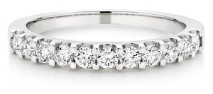 Choose in 14 Karat, 18 Karat or Platinum Diamond Half Eternity Ring