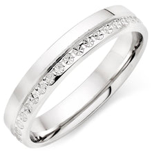 Choose in 14 Karat, 18 Karat or Platinum White Gold Sparkle Finish Ladies Ring