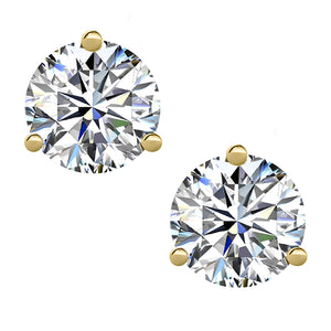 18 KARAT YELLOW GOLD 3-PRONG ROUND. Choose From 0.25 CTW To 10.00 CTW