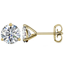 14 KARAT YELLOW GOLD 3-PRONG ROUND 9.00 C.T.W