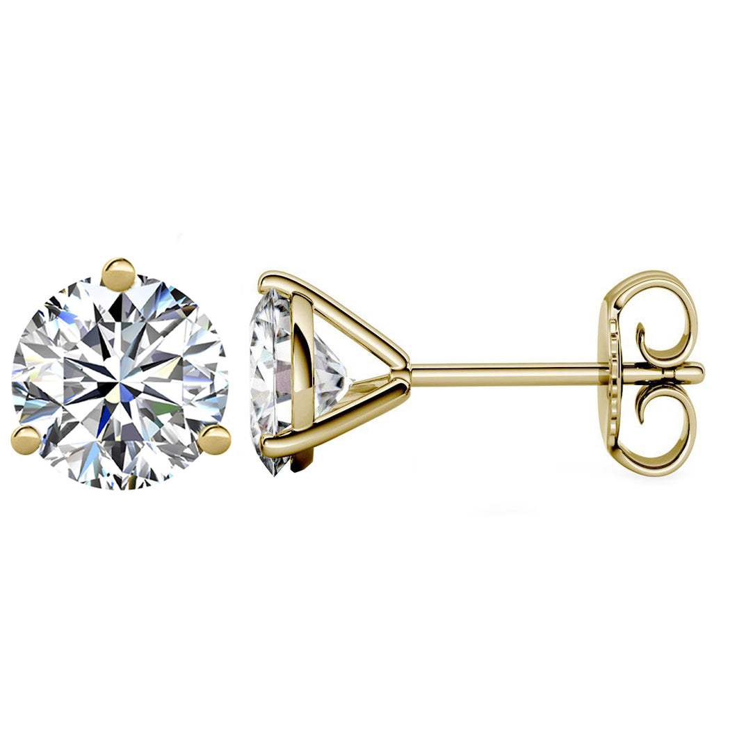 14 KARAT YELLOW GOLD 3-PRONG ROUND 0.10 C.T.W