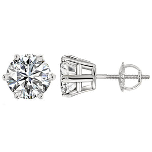 PLATINUM 950 6-PRONG ROUND. Choose From 0.25 CTW To 10.00 CTW