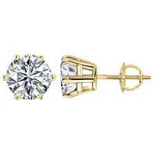 14 KARAT YELLOW GOLD 6-PRONG ROUND 3.00 C.T.W