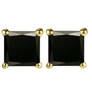 14 KARAT YELLOW GOLD BLACK PRINCESS. Choose From 0.25 CTW To 10.00 CTW