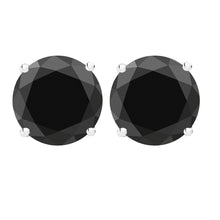 14 KARAT WHITE GOLD BLACK 4-PRONG ROUND. Choose From 0.25 CTW To 10.00 CTW