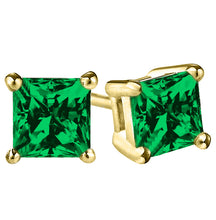 14 KARAT YELLOW GOLD EMERALD PRINCESS. Choose From 0.25 CTW To 10.00 CTW