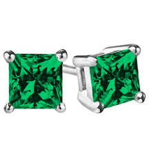 14 KARAT WHITE GOLD EMERALD PRINCESS. Choose From 0.25 CTW To 10.00 CTW