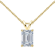 18 KARAT YELLOW GOLD EMERALD PENDANT WITH ROLO CHAIN. BUILD YOUR OWN PENDANT.