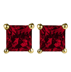 14 KARAT YELLOW GOLD GARNET PRINCESS. Choose From 0.25 CTW To 10.00 CTW