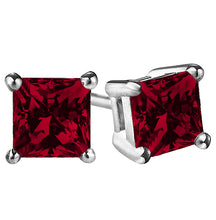 14 KARAT WHITE GOLD GARNET PRINCESS. Choose From 0.25 CTW To 10.00 CTW