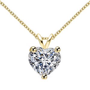 18 KARAT YELLOW GOLD HEART PENDANT WITH ROLO CHAIN. BUILD YOUR OWN PENDANT.